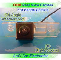Free shipping! HD Rear View Skoda Octavia 2008- 2013 CCD night vision car reverse camera auto license plate light camera