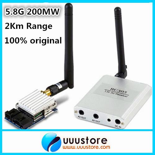 100% original Boscam 5.8Ghz 200mW 8 Channel FPV Audio Video Transmitter&Receiver TS351+RC305 For DJI Phantom 2Km Range(China (Mainland))