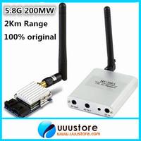 100% original  Boscam 5.8Ghz 200mW 8 Channel FPV Audio Video Transmitter&Receiver  TS351+RC305 For DJI Phantom 2Km Range
