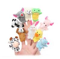 Cartoon Animal Finger Puppets Toy 10pcs/set   WJ0011