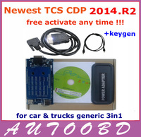 Latest Version 2013.R2 Red LED LIGHT TCS CDP Pro Plus with 21 languages tcs scanner free activation ---FREE shipping