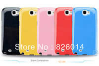 Candy Clear Soft Skin TPU Rubber Back Case Cover for Samsung Galaxy Note 2 II N7100 phone cases 10pc/lot wholesale Free shipping