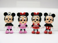 12 pcs Mickey Mouse Minnie Mouse Charm Pendant Figurine DIY Accessories AMK938