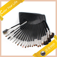 Free Shipment 22 PCS Natural Hair  professional Make Up  Tool Makeup Brush set with Black Cosmetics Case