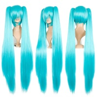 Free Shipping New Vocaloid Hatsune Miku Show Anime Costume Cosplay Party Halloween Hiar Wig PW0018 Drop Shipping Wholesale