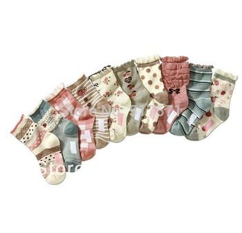 Free Shipping 10Pairs/LOT Children Cute floral Cotton Short Socks  Summer Cartoon  Baby Boy Girl Sock Kids Socks Multicolor