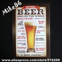 [ Mike86 ] Beer Around the World Tin Signs Vintage House Cafe Restaurant Beer Poster Metal Craft ART Painting Mix order 20*30 CM