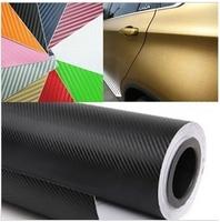 Free Shippin,127*30CM 3D Carbon Fiber Vinyl Car Wrapping Foil,Carbon Fiber Car Decoration Sticker,Hight Quality Car Sticker