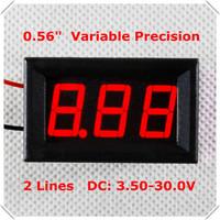 """0.56"""" Variable Precision  Digital Voltmeter dc 3.50-30.0V Vehicles Motor Voltage Panel Meter led Color display: Red[4 pcs / lot]"""