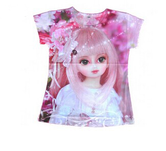 2013 new brand baby clothing,kids 3D t-shirts beautiful painting picture shirt ,cartoon kids t shirt boys and girls shirt