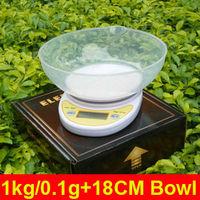 1kg/0.1g Digital Postal Cooking Food Diet Grams Kitchen Scale OZ LB 1000g  + 18CM Bowl