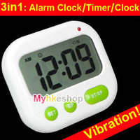 Digital LCD Alarm Clock 24 hours Kitchen Sport CountDown Timer ( Music / Vibration)