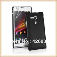 Rubberized Rubber Hybrid Hard Case for Sony Xperia SP, Plastic Case Back Cover, 200pcs/lot waterproof , Free Shipping