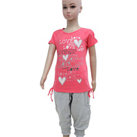Free Shipping! Girls clothing set, Girls tee shirts and knickers pants wholesale for summer 2013 promotions size #4-#14 #0421K