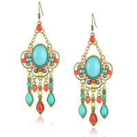 New Dangle Earrings For Women Multicolor Vintage Statement Earrings Jewelry E1366