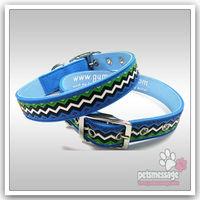 Dog Collar Pink Large Dog Collar Pitbull Dog Collar Pet Product  PVC Led Collar Free Shipping Wholesale MOQ 12pcs/lot Pink Blue