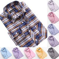 New Men's slim fit Oxford long sleeve shirt, cotton shirts for men, Striped shirt, Plaid Shirt 30color size:L XL XXL 3XL 4XL 5XL