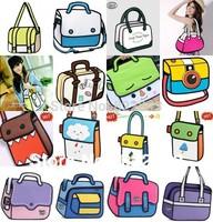 wholesale 22 style 3d cartoon comic gismo bag free shipping 3d gismo cartoon women  bag drop shipping