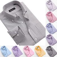 2014 Hot-selling male clothes Oxford cloth Casual long sleeve shirt Mens Business shirt High Quality Men's dress shirt S-5XL