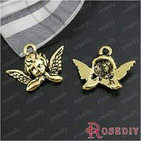 Wholesale 20*11mm Antique Gold Little Angel Alloy Charms Pendants Diy Jewelry Findings Accessories 50 pieces(JM110)