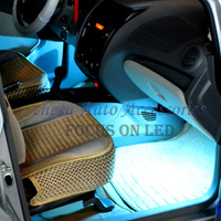 Car Covers Parking Auto Monochromatic Atmosphere Light with Cigarette Lighter Easy To Install In Six Color Chose free Shipping