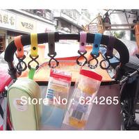 10PCS/lot Universal buggy pram pushchair clip stroller hook shopping bag carrier holder  baby stroller car hook new