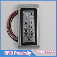RFID/ EM Card Reader IP68 Waterproof metal standalone Door Lock access control system with keypad Support 2000 card users