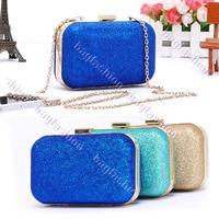 Women's Handbag Dinner Retro Hard Glitter Shoulder Chain Bag Clutch 3 Colors 14226 Z