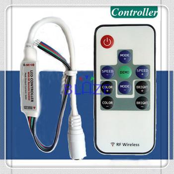 10pcs mini RGB colorful wireless remote controller RF DC5-24V for led strips light