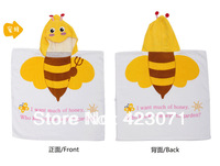 new wholesale&retail boy girl and  bathrobe hooded bath towel 100% cotton for  bathing robe yellow color bee design childen like