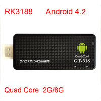 2013 New TV BOX MK809 III Rockchip RK3188 3188 Quad Core Cortex A9 MK809III MINI Androind 4.2 PC TV Stick 2GB/ 8GB ROM 1.8GHz