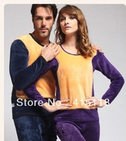 Gold Armor Thermal Underwear Thickened With Velvet Man And  Woman Long Johns Suit  Large Size