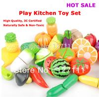 Free shipping Hot sale children toy Child fruit kitchen toy play set kindergarten toy 7pcs per set