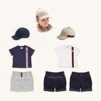 HOT SALE , 2014 Brand Baby Boys Clothing 3 Piece Set ( Cap + Boys T shirt + shorts) Summer Children Clothes For Kids Boy