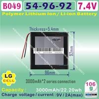 [B049] 7.4V,3100mAH,[549692] PLIB(polymer lithium ion battery / LG  CELL) Li-ion battery for tablet pc,cell phone,speaker