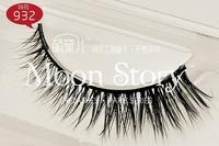Free Shipping! New Pro natural mink hair 100% Handmade False Eyelashes Natural Long style 932#, free glue 102#, dropshipping!