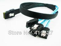 1M Server data lines Mini SAS SFF 8087 36P to 4 sata 7Pin RAID Data Cable