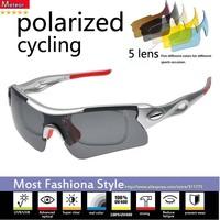 outdoor sport 5 lens sunglasses men polarized cycling eyewear,250T PC lenses cycling sunglasses men polarized driving mirror