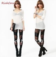 New 2013 Shorts Women Leggings Asymmetrical Gauze Patchwork Transparent Feel Mid-Waist Autumn -Summer Legging Free Shipping D134