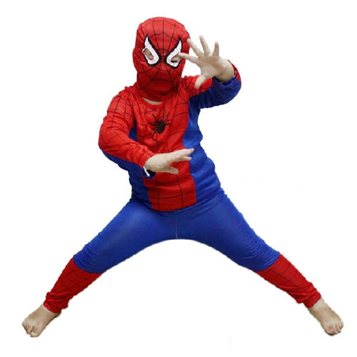 Free Shipping Party Supplies Spiderman Halloween Costume For Kids Children S/M/L Christmas Costume PW0010 Wholesale(China (Mainland))