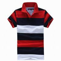 2014 New Men Classic Brand T-shirt Summer Slim Fit Style Male T Shirt Cotton Turn-down Collar Short Sleeve Shirt