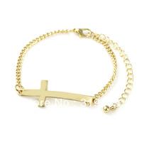 Free Shipping 12pcs/lot European Style Christian Bracelet crucifix Jesus Pulseiras Cross Adjustable Chain Alloy Bangle B794-002