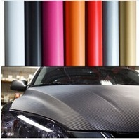 Free Shipping,3D Carbon Sticker 1000*30 CM,High Quality Carbon Fiber Paper Car Stickers Accessories,12 Color Option