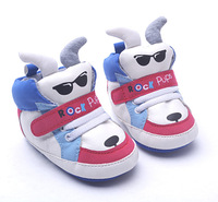 Fashion cool rock bear free shipping 2015 cartoon blue stitching velcro 0-1 baby toddler shoes first walkers [ pretty baby ]