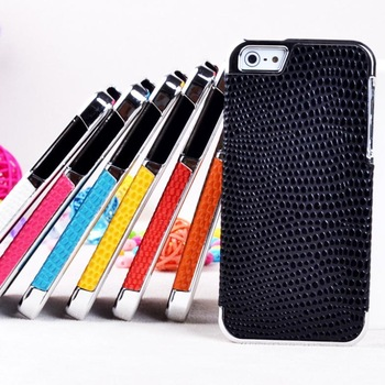 Free Shipping 10pcs/1lot. whole sale. sanke leather skin rubber case cover for iPhone 5 5g with viable mix color order in stock
