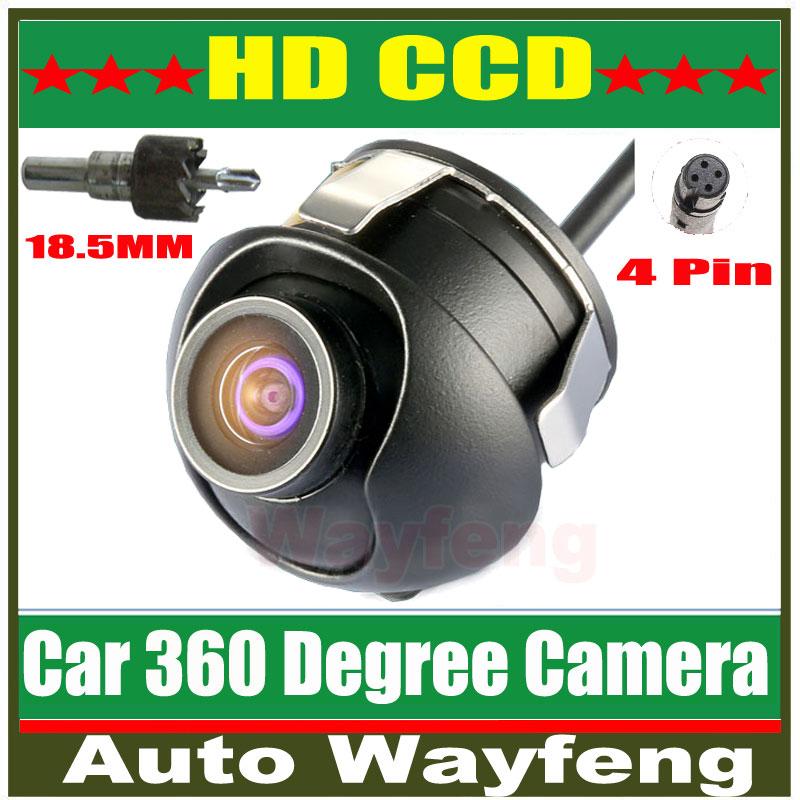 Factory Promotion CCD HD night vision 360 degree car rear view camera front camera front view side reversing backup camera(China (Mainland))
