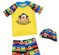 Children swimwear boy baby boys kids sunscreen fabrics fission mouth monkey pattern with hood a bathing suit