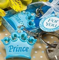Factory directly sale 30PCS/LOT Wedding Favor and gifts blue pink Crown Key Chain baby shower decorations party