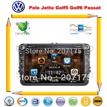 VW passat polo jetta golf5 golf6 touran tiguan Car dvd gps with Canbus,Radio,TV,BT,DVR(Optional)+Russian Menu+Free 4G map card