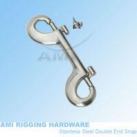 "4"" Double end Snap, stainless steel 316, AISI 316, marine hardware, boat hardware, rigging hardware, yacht hardware, OEM"